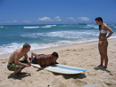 people learning how to surf