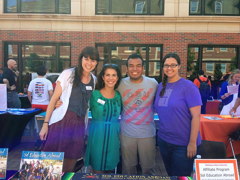 Sol staff in OSU Study Abroad Fair