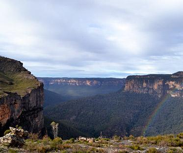 At Pierce's Pass overlooking Grose Valley in the Blue Mountains.