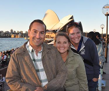 Julie with colleagues Lindsey and Jay in Sydney