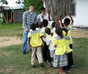 Young men and students at the Community School.