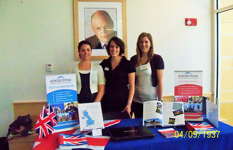 Across the Pond staff at a recruitment event in 2010
