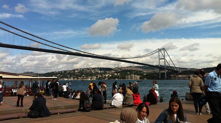 View of the Bosphorus in Turkey