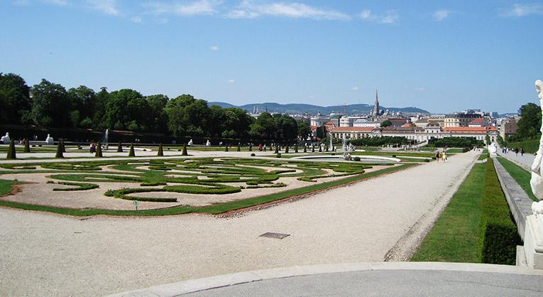 Overlooking Vienna, Austria from Schonbrunn Palace