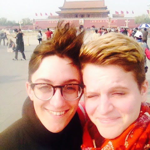 Visiting Tiananmen Square in China