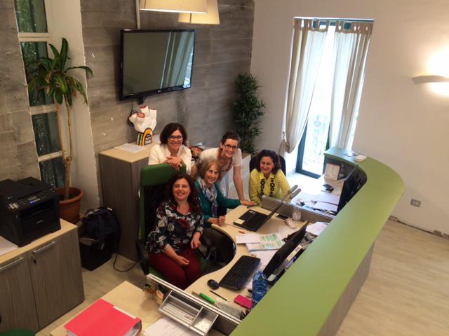 Babilonia staff members at the Babilonia Office in the U.S.