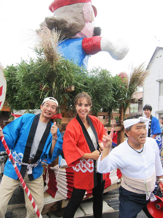 Neighborhood festival in Kotoura, Tottori Prefecture Japan