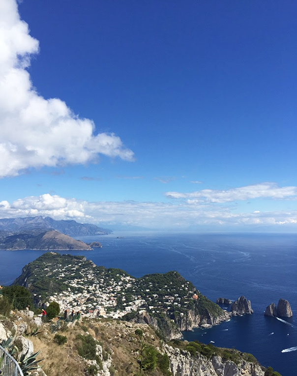 View of Capri from the mountains
