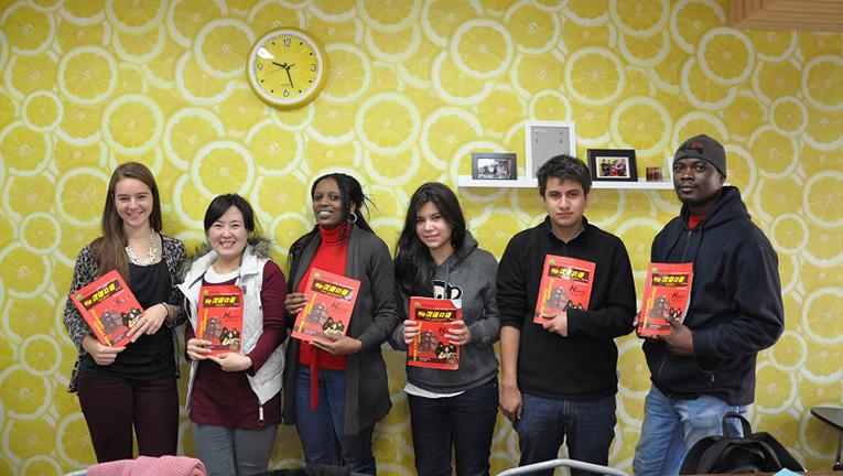 Mandarin language students in China