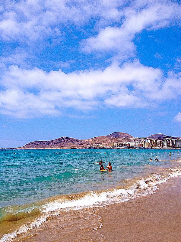 Las Palmas Beach on the North side of Gran Canaria Island in Spain