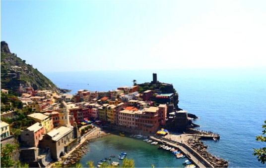 Vernazza, Italy on the way to Cinque Terre