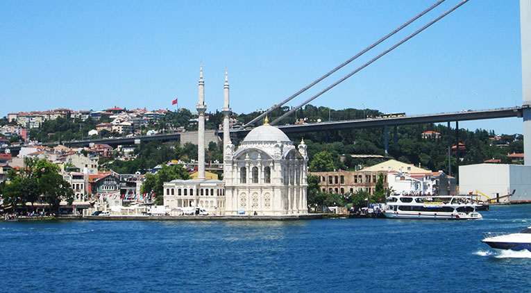 Ortaköy Mosque in Beşiktaş, Istanbul, Turkey