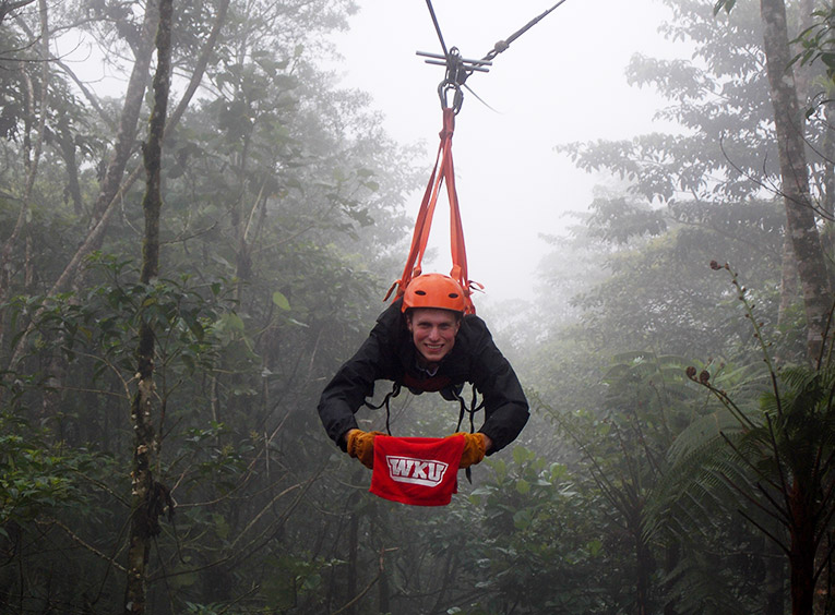 Ziplining in the rainforests of Costa Rica