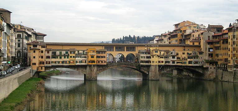 A view of Ponte Vecchio in Florence
