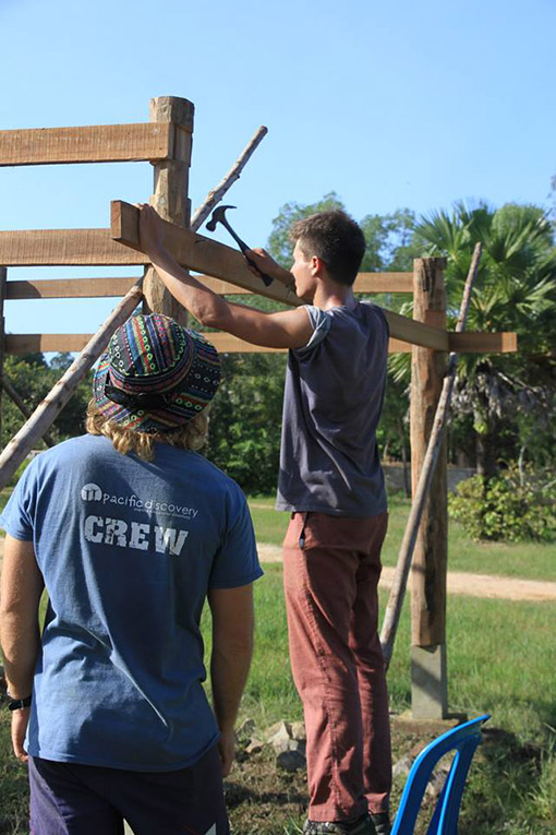 Shelter building project in Cambodia