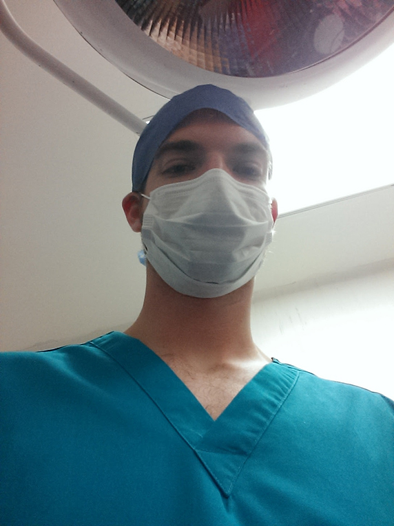 Doctor dressed for surgery
