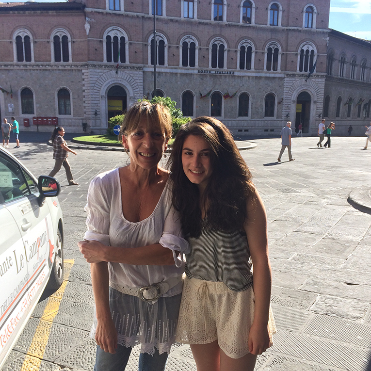 International student with Italian host mother