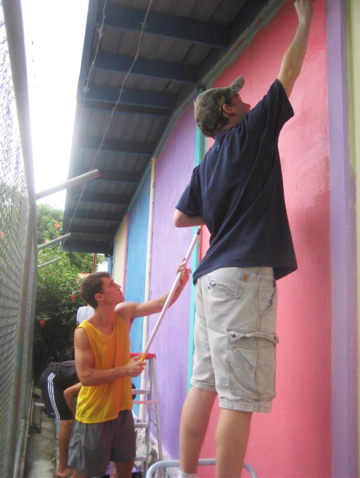 Painting a local school in Costa Rica