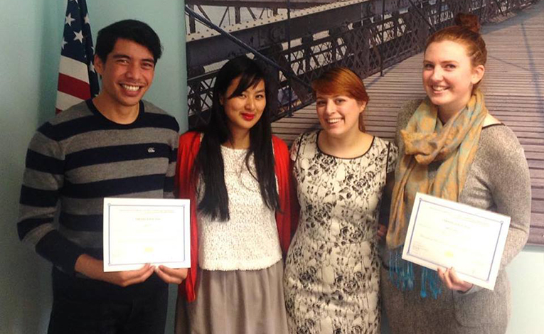Smaller Earth Program Coordinator with new TEFL graduates