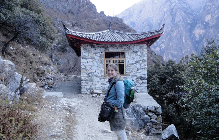 Hiking through Leaping Tiger Gorge in China