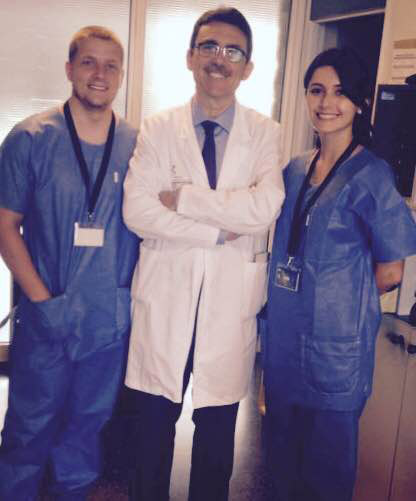 Medical interns in the Canary Islands with a hospitals chief of general surgery