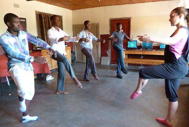 Teaching ballet in Kabokweni, South Africa