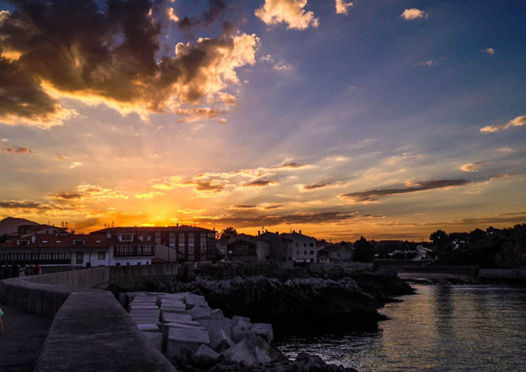 Sunset in Llanes, Spain