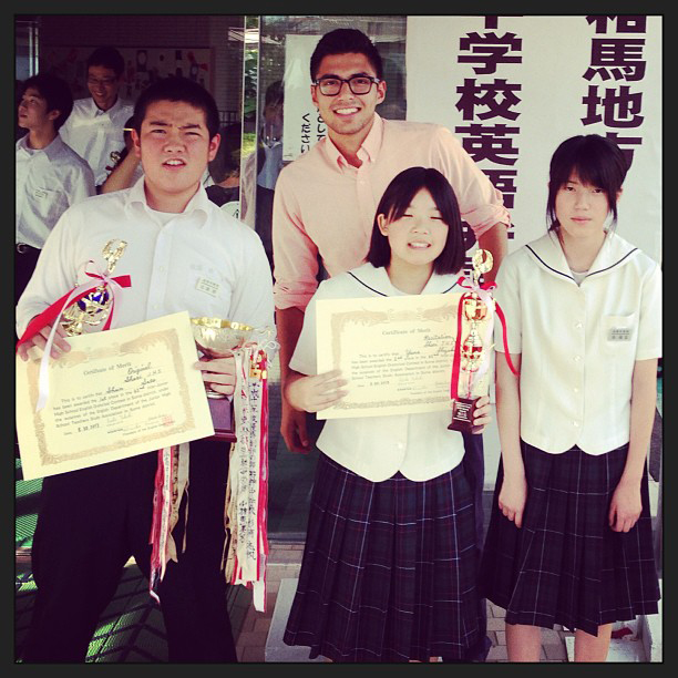 Fukushima-Ken sectional English speaking competition participants