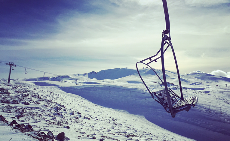 Mzaar Kfardebian ski resort in Faraya, Lebanon