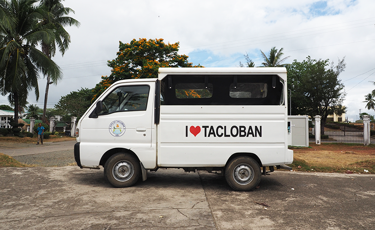 A vehicle owned by the Tacloban City government, Philippines