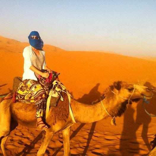 Camel riding in the Sahara of Morocco