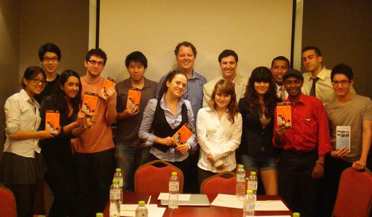 During a Career Speaker event in Shanghai, Summer 2012