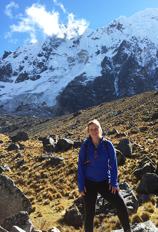 Hiking in the Peruvian Andes