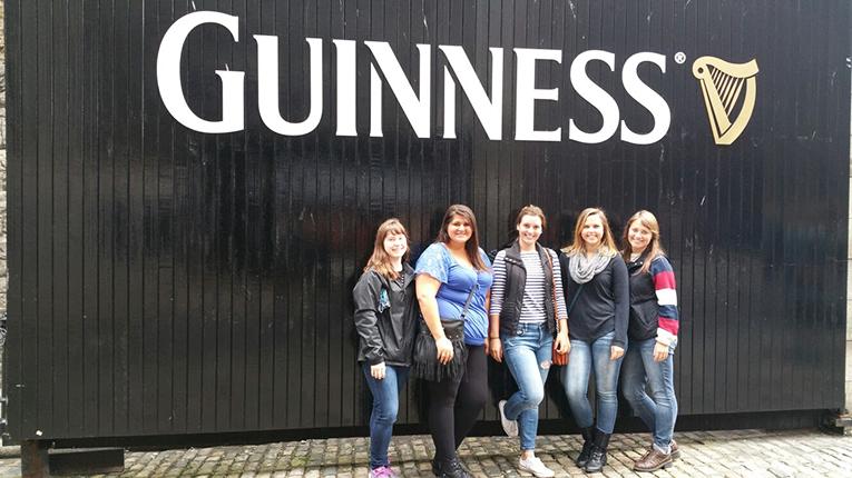 Guinness factory in Dublin, Ireland