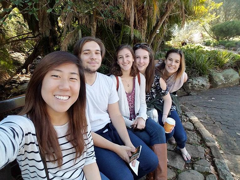 Girls visiting Kirstenbosch National Botanical Garden in Cape Town, South Africa