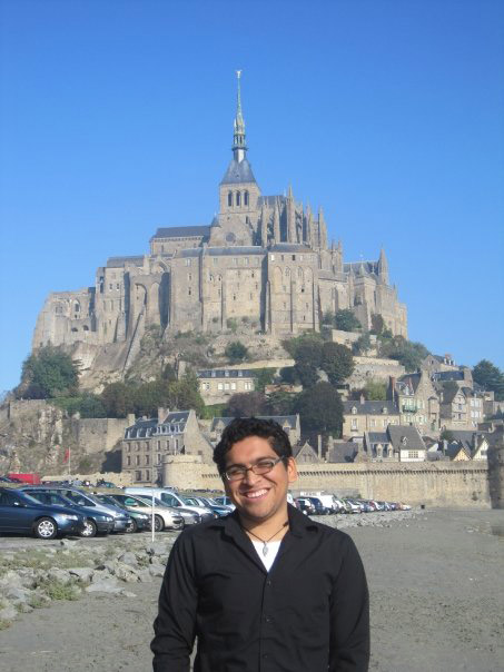 In front of Mont Saint-Michel, France