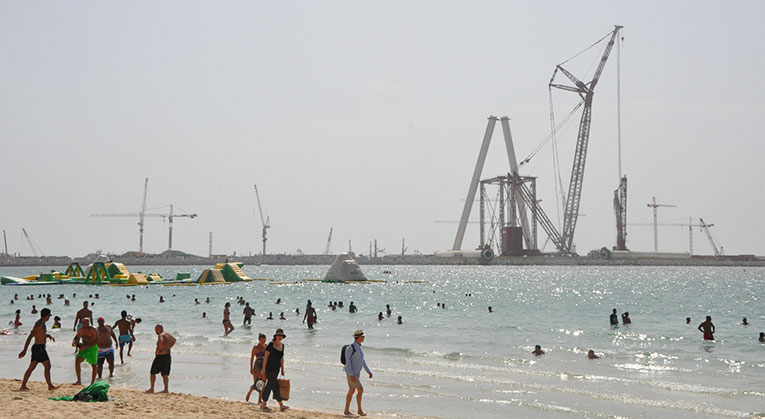 A beach in Dubai, United Arab Emirates