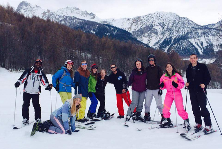 Snowboarding in Bardonecchia, Italy