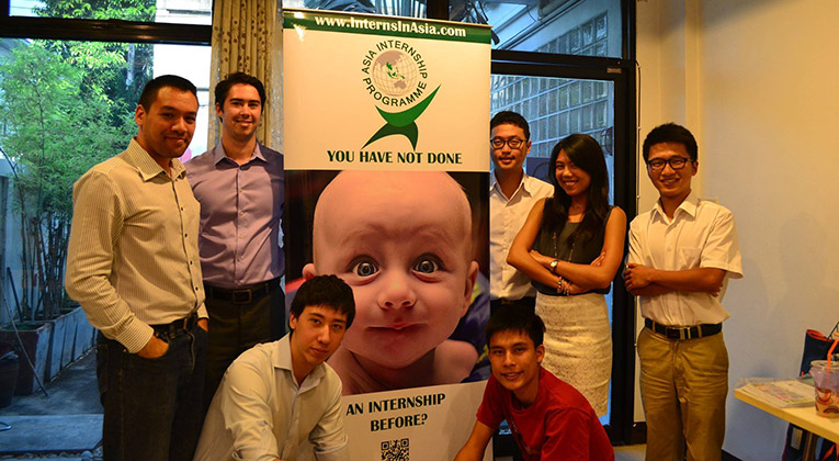 Asia Internship Programme team at the AIP Headquarters