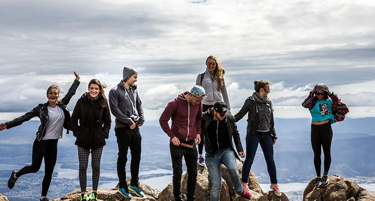 At the top of Mt. Wellington near Hobart, Tasmania