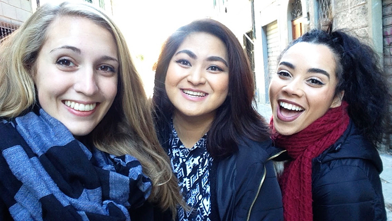 Study abroad students in Florence, Italy