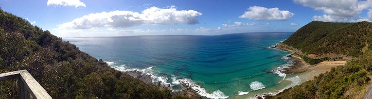 Panoramic view of Australias coastline