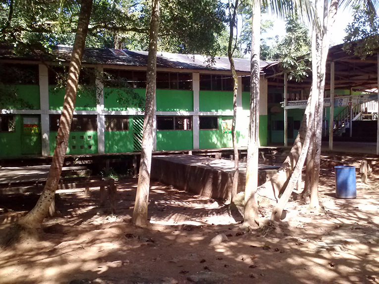 School and gym at the Casa Guatemala Mayan Childrens Village