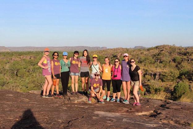 Hiking at the top of Ubirr, Kakadu National Park