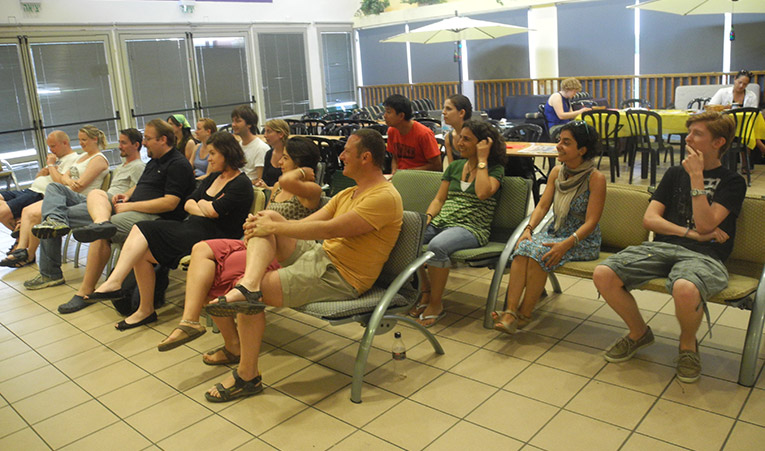 International students at the University of Haifa International School orientation