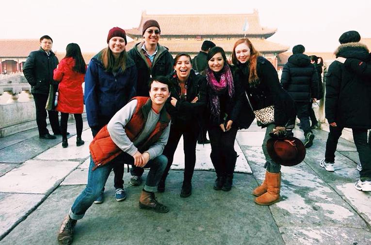 International students visiting the Forbidden City