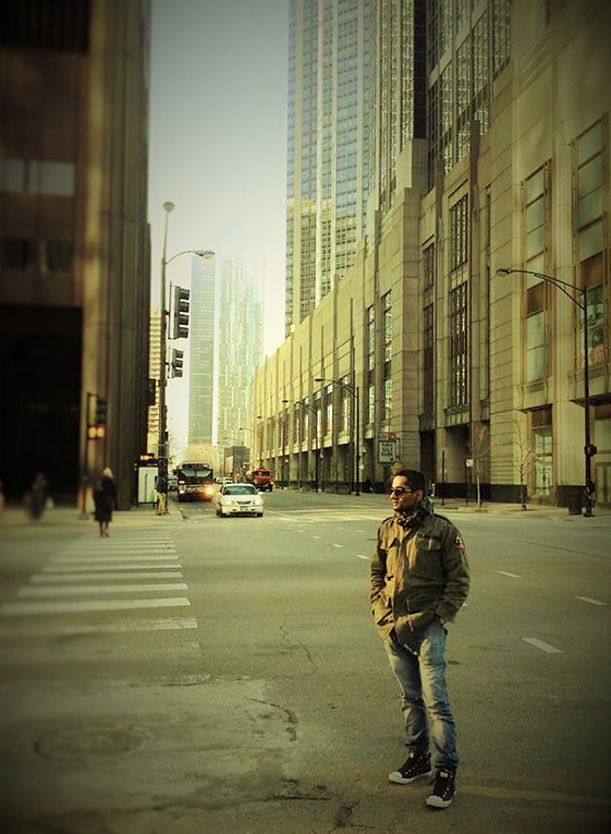 A street in Chicago, Illinois