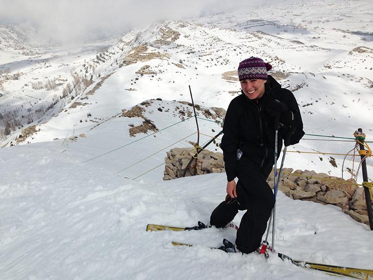 Ski field at Laqlouq, Lebanon