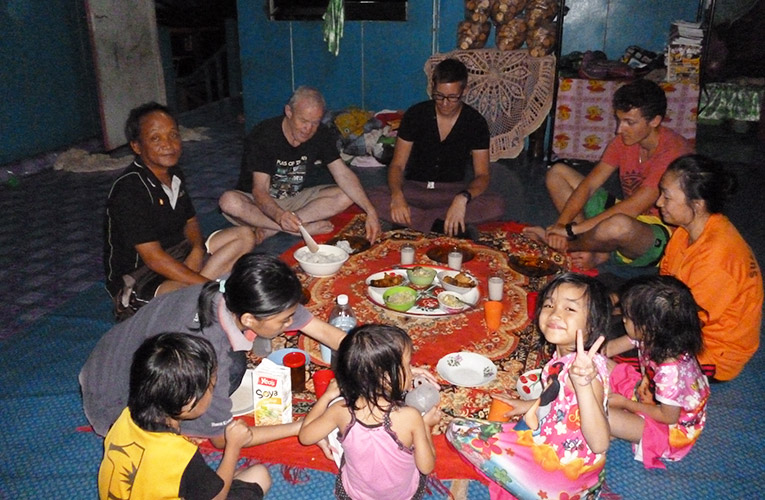 Traditional dinner in Borneo