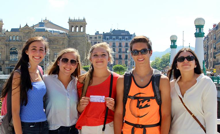 Study abroad students in San Sebastian, Spain